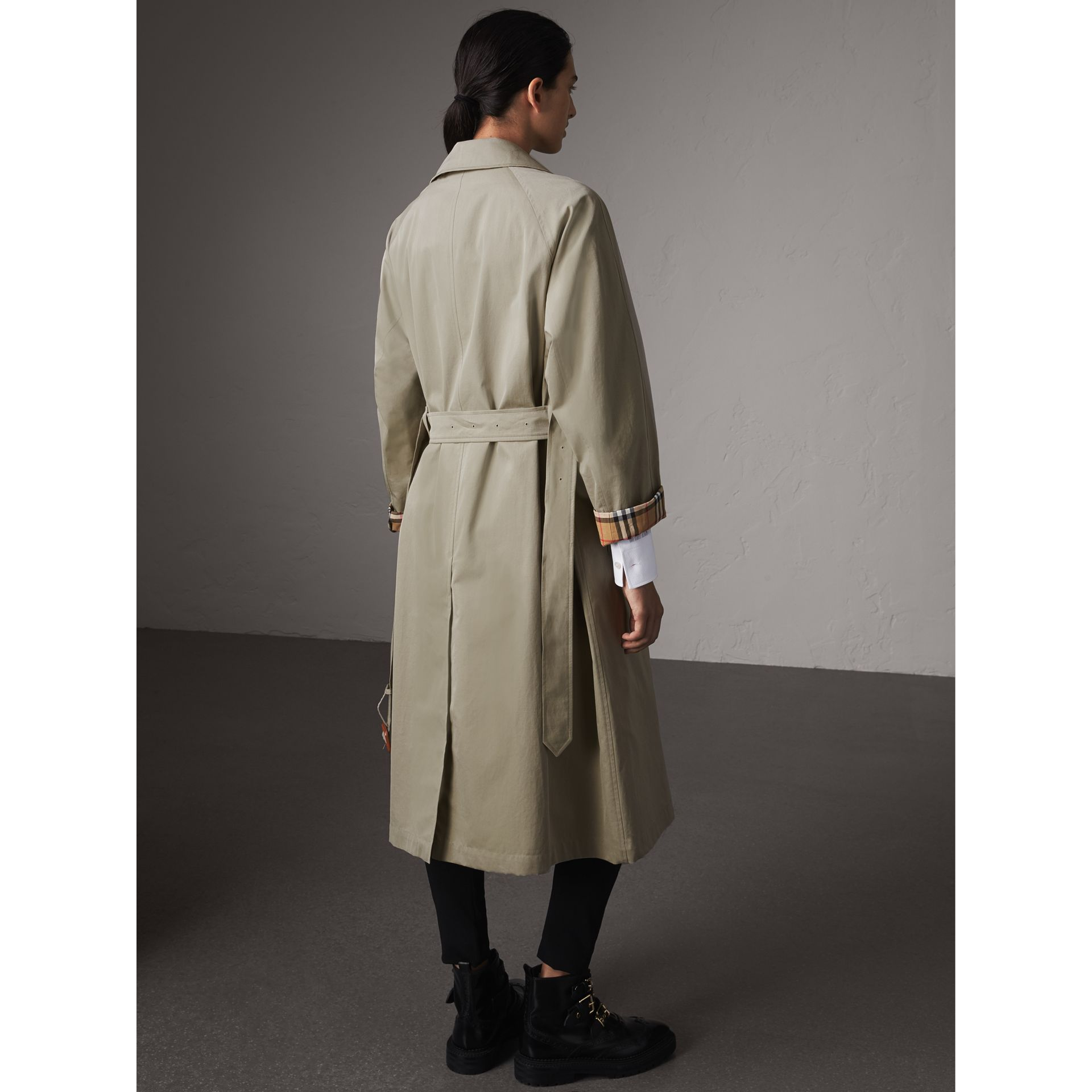 The Brighton – Extra-long Car Coat in Sandstone - Women | Burberry Singapore - gallery image 3