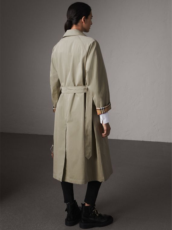 The Brighton – Extra-long Car Coat in Sandstone - Women | Burberry - cell image 2