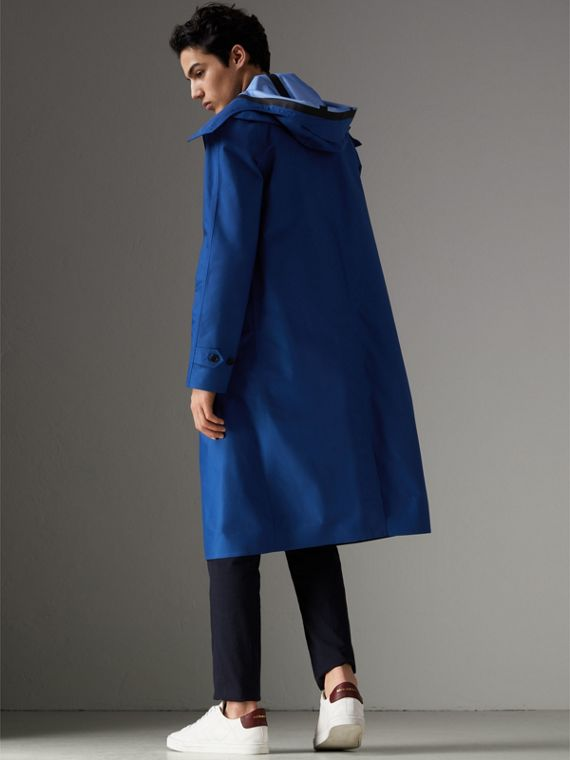 Detachable Hood Showerproof Car Coat in Bright Navy - Men | Burberry - cell image 2