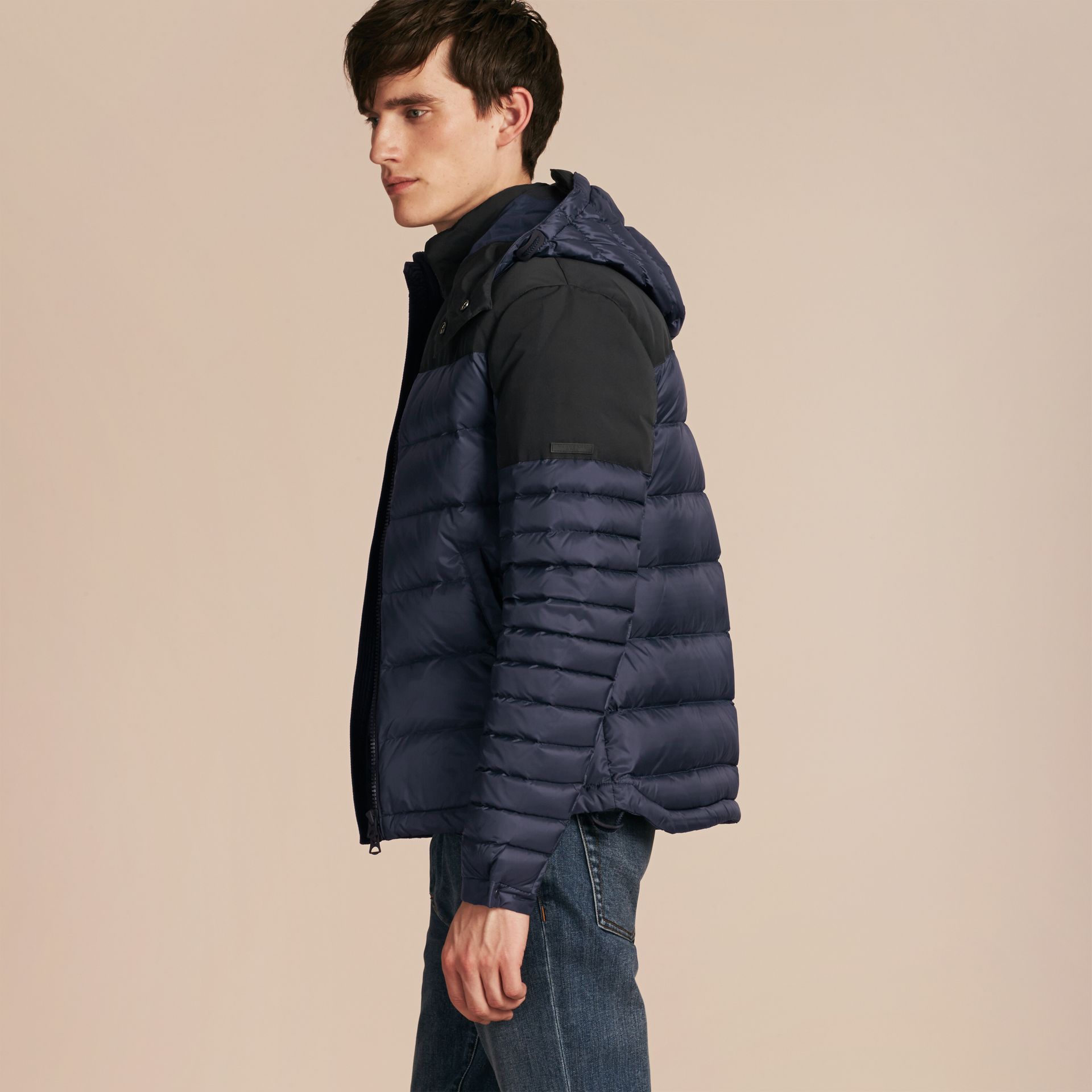 Navy Mid-weight Down-filled Technical Puffer Jacket Navy - gallery image 6