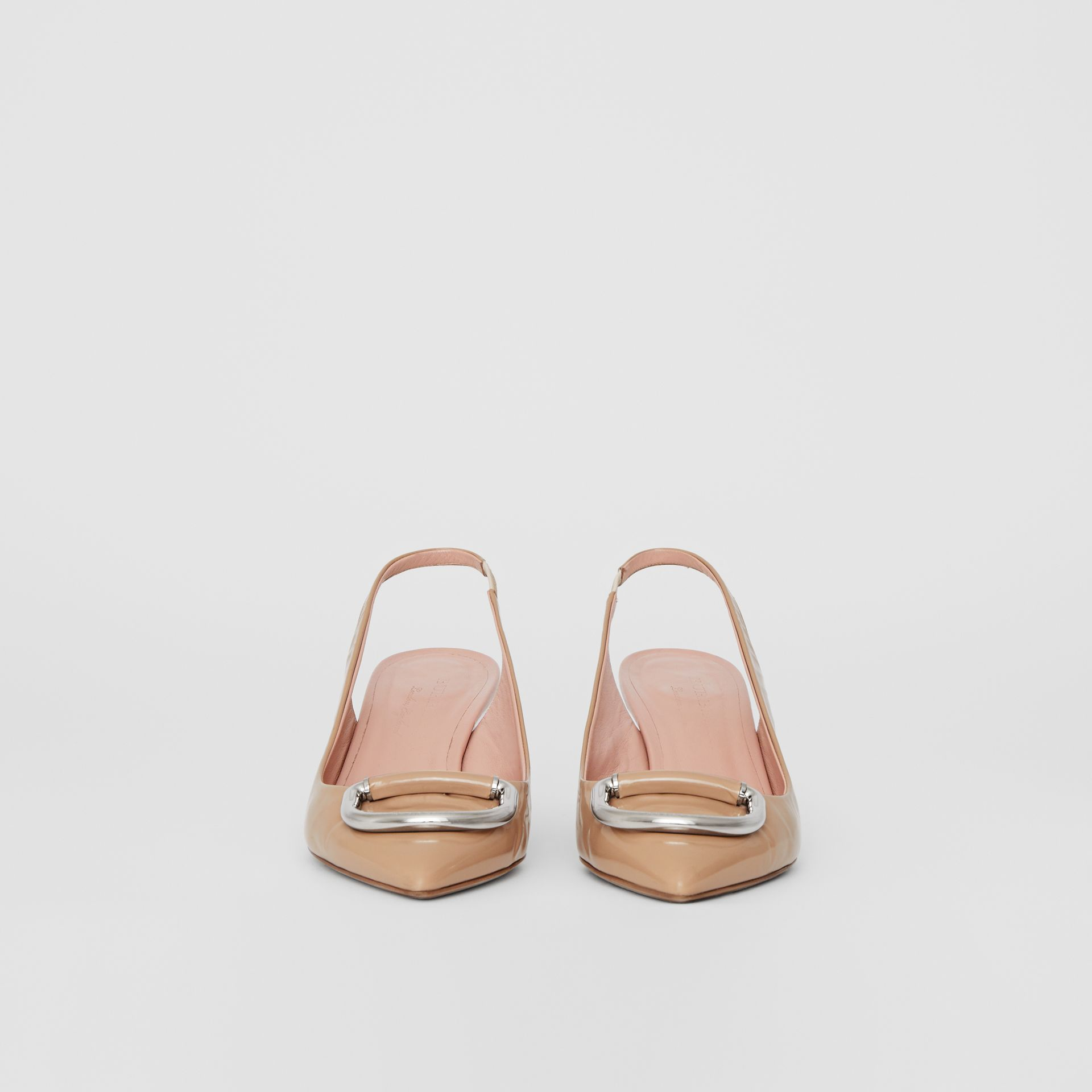 The Leather D-ring Slingback Pump in Nude Blush - Women | Burberry United Kingdom - gallery image 3
