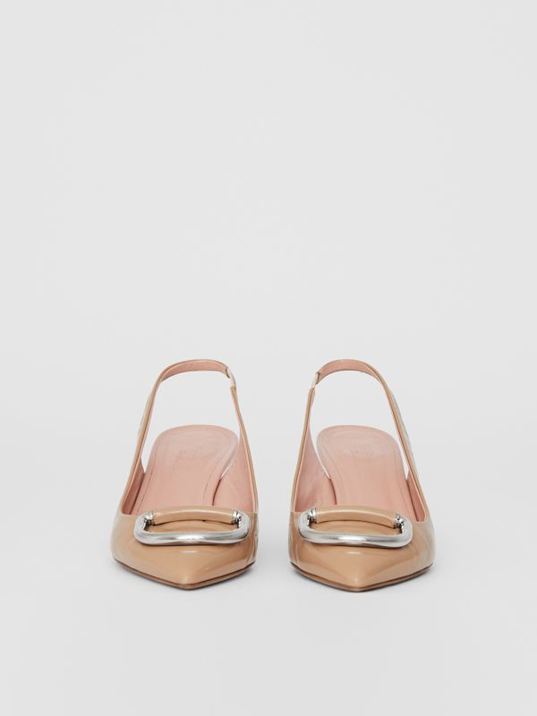 The Leather D-ring Slingback Pump in Nude Blush - Women | Burberry - cell image 3