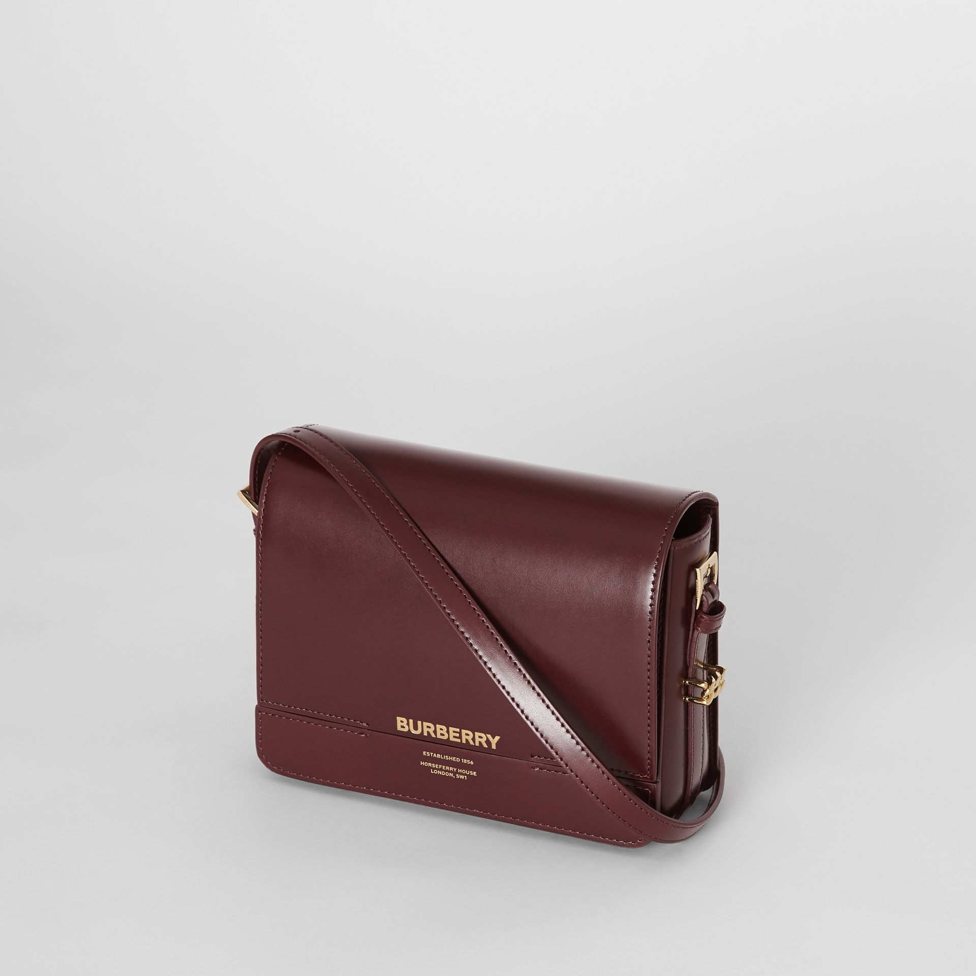 Small Leather Grace Bag in Oxblood - Women | Burberry United Kingdom - gallery image 3