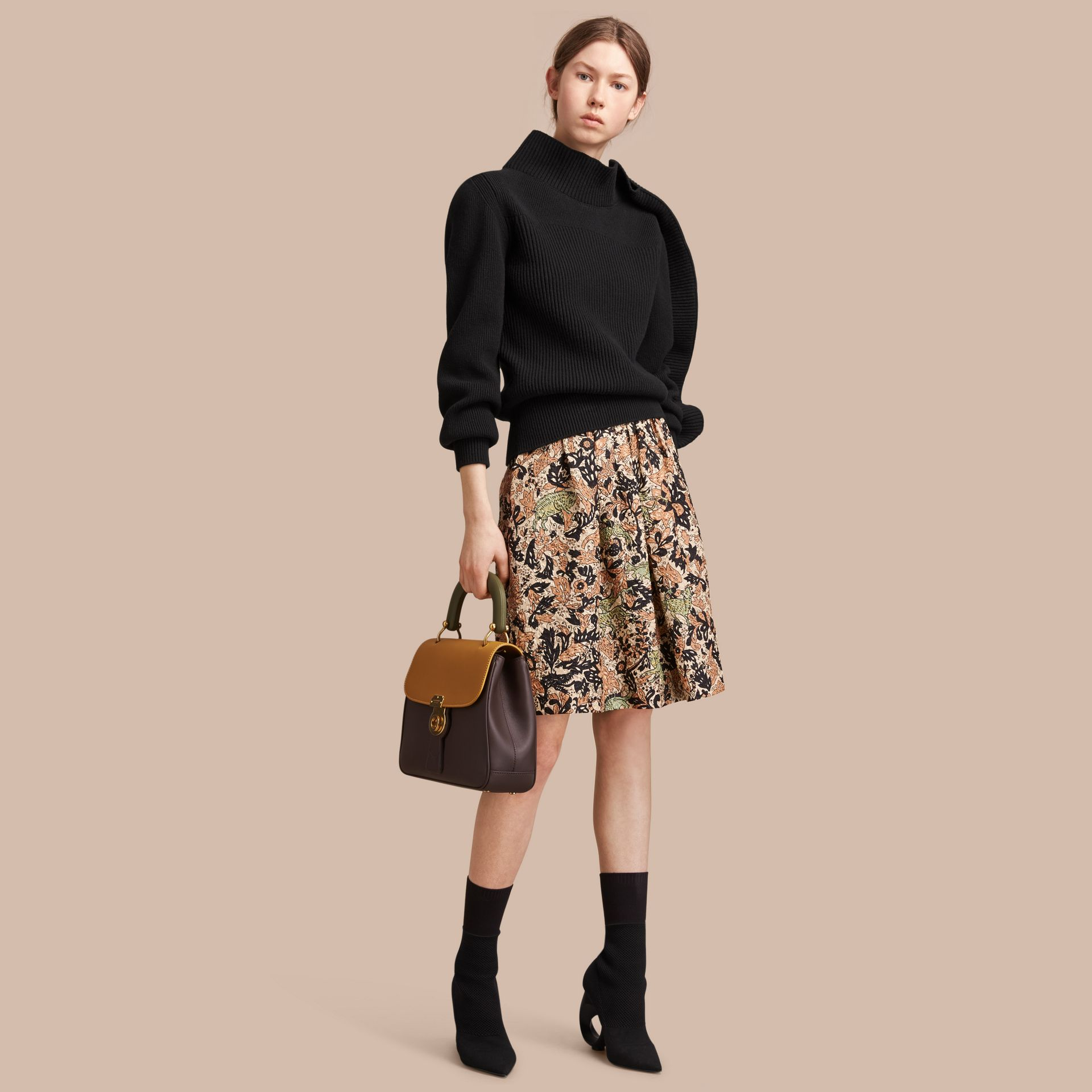 Beasts Print Technical Silk Voluminous Skirt - Women | Burberry - gallery image 1