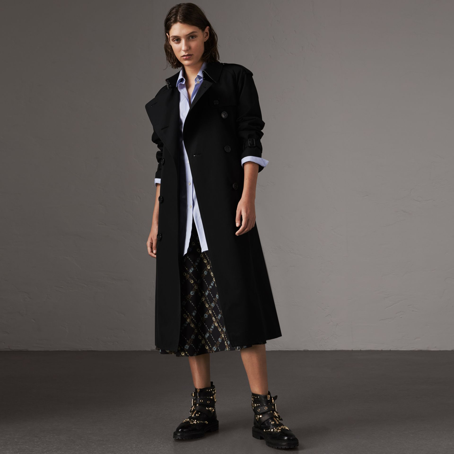 The Westminster – Extra-long Trench Coat in Black - Women | Burberry - gallery image 0
