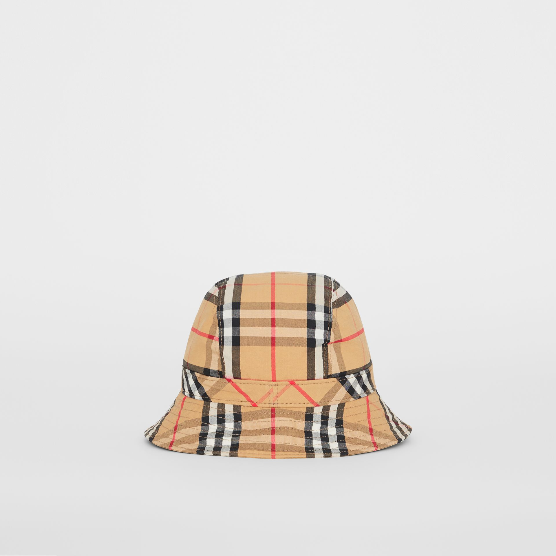 Vintage Check Cotton Bucket Hat in Antique Yellow | Burberry Hong Kong S.A.R - gallery image 3