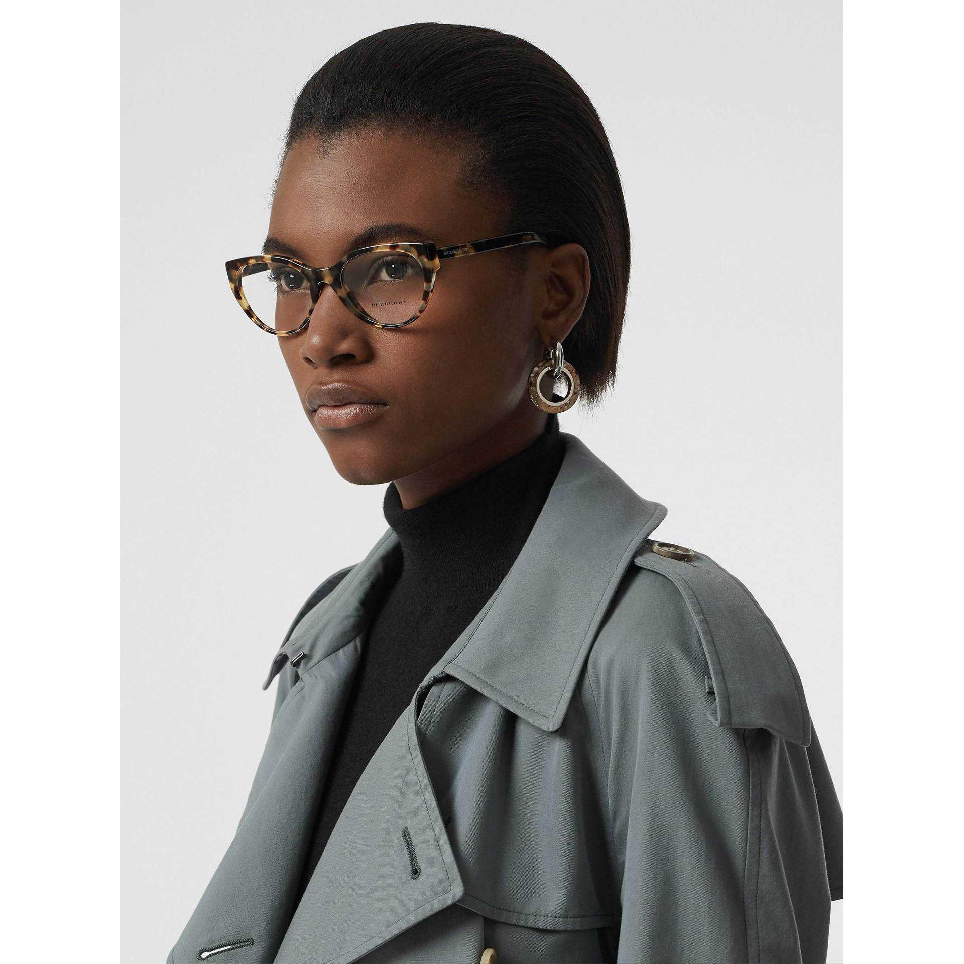 Óculos de grau com armação gatinho (Casco  Tartaruga) - Mulheres | Burberry - galeria de imagens 2