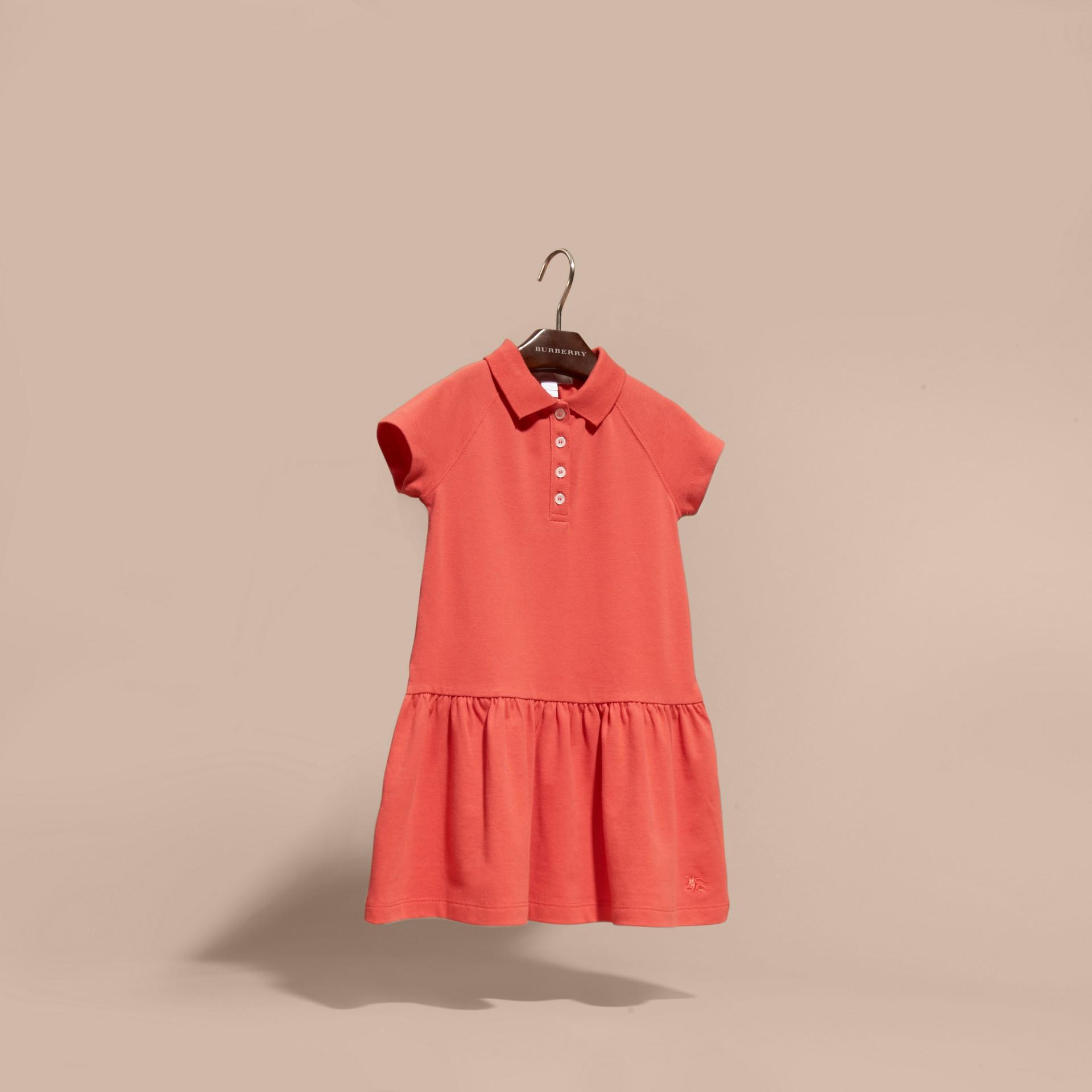 Check Placket Cotton Blend T-Shirt Dress - gallery image 3