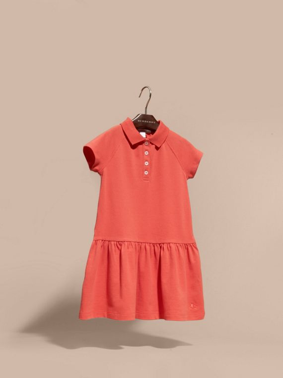 Check Placket Cotton Blend T-Shirt Dress - cell image 2