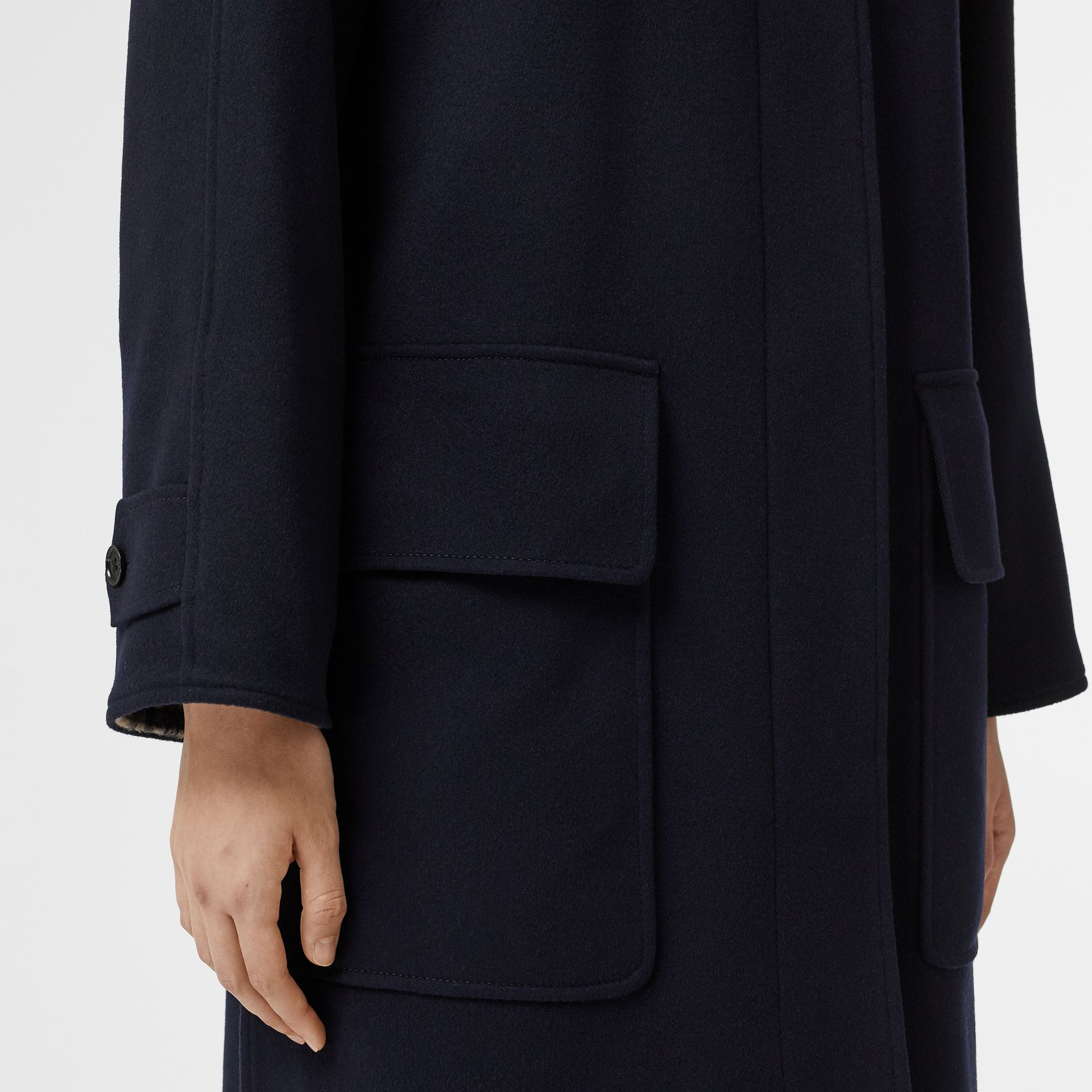 Cashmere Car Coat in Dark Ink Blue - Women | Burberry United Kingdom - gallery image 4