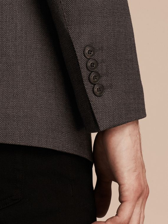Dark grey Modern Fit Tailored Wool Jacket - cell image 2