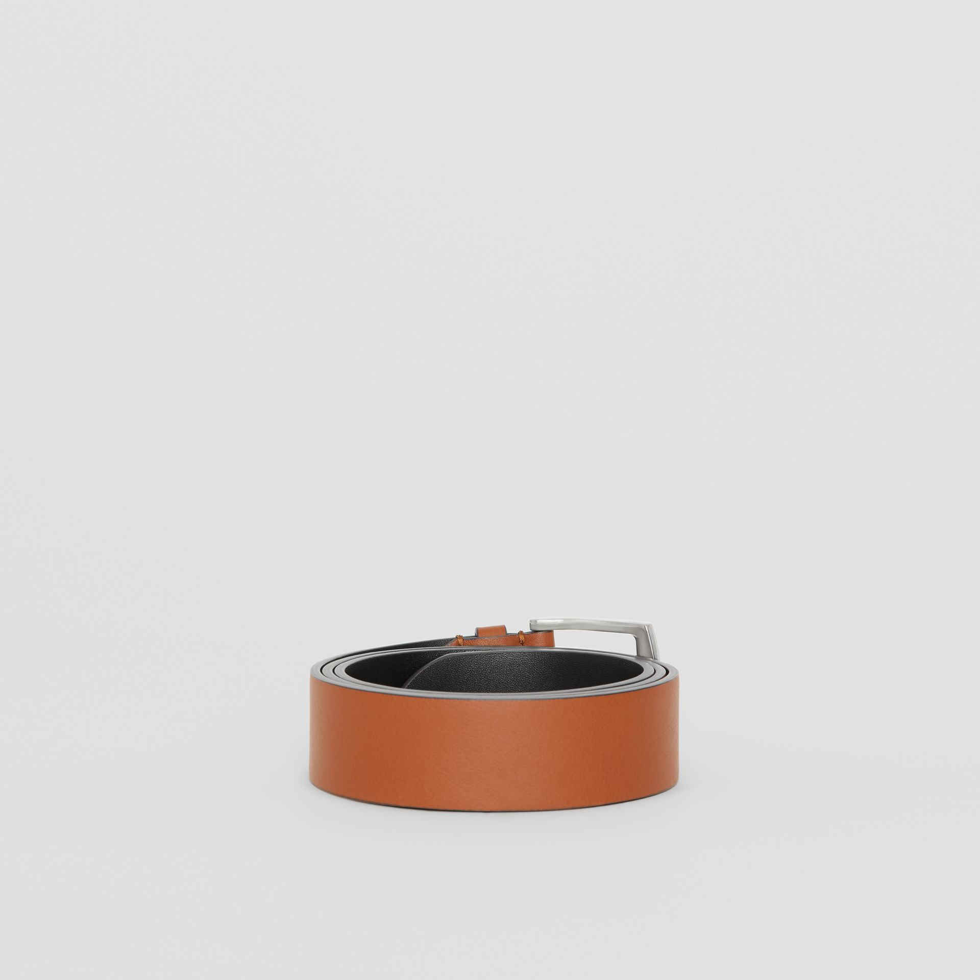 Embossed Crest Leather Belt in Chestnut Brown - Men | Burberry United States - gallery image 4