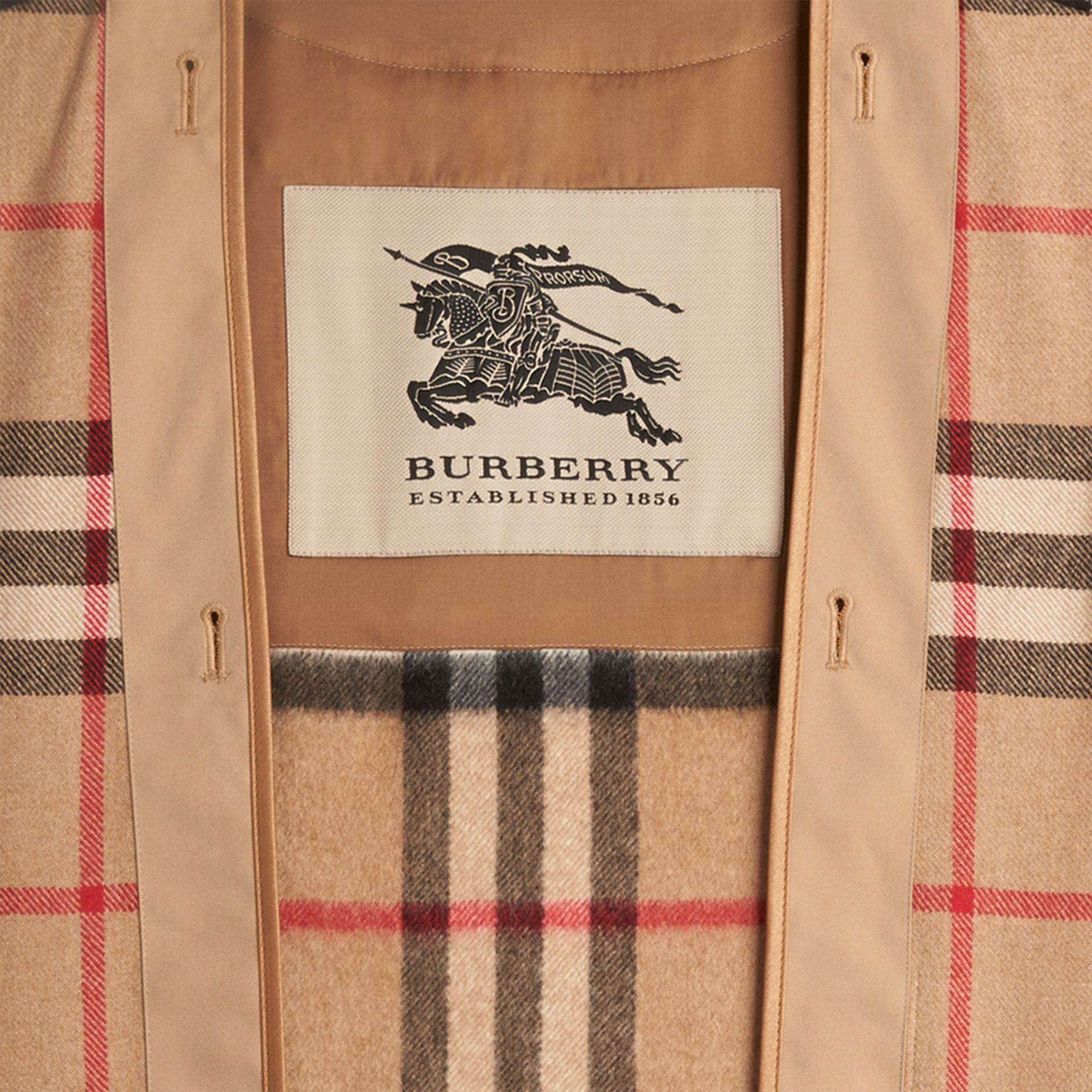 Kensington and Wiltshire Fit House Check Cashmere Wool Warmer in Camel - Men | Burberry - gallery image 2