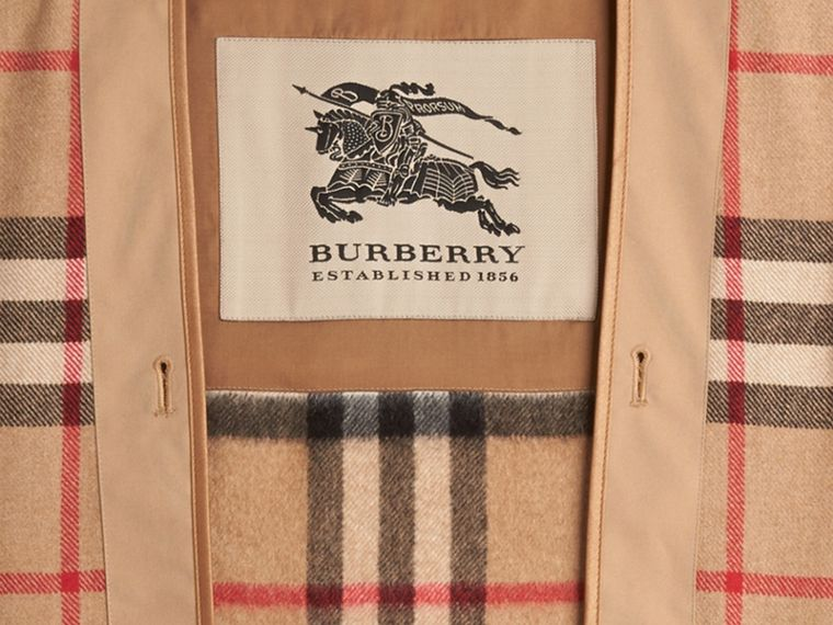 Kensington and Wiltshire-fit House Check Cashmere Wool Warmer in Camel - Men | Burberry Hong Kong - cell image 2