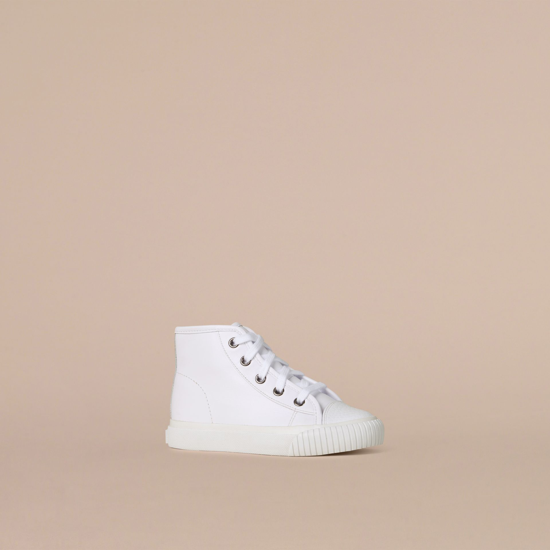 White Leather High-Top Trainers - gallery image 1