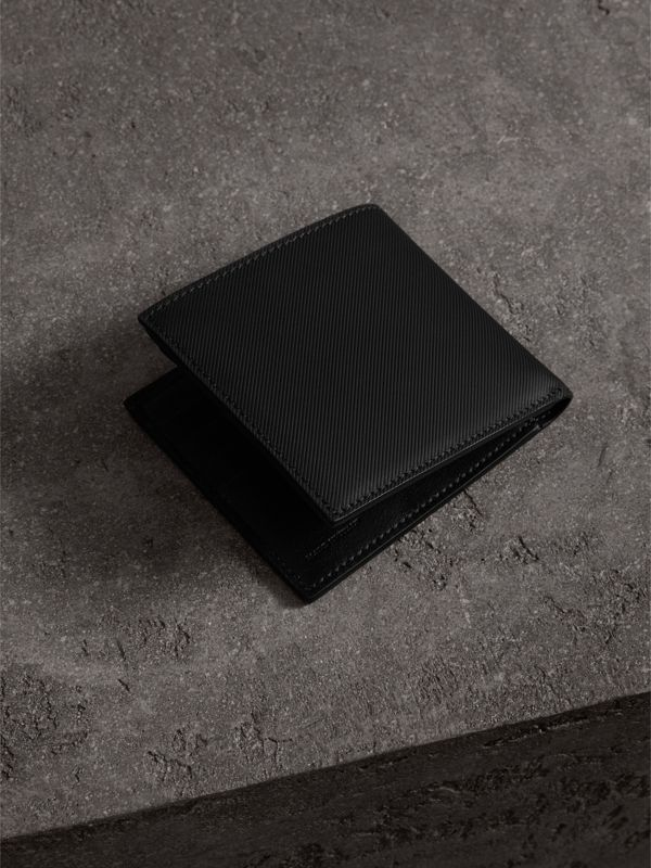Trench Leather International Bifold Wallet in Black - Men | Burberry - cell image 2