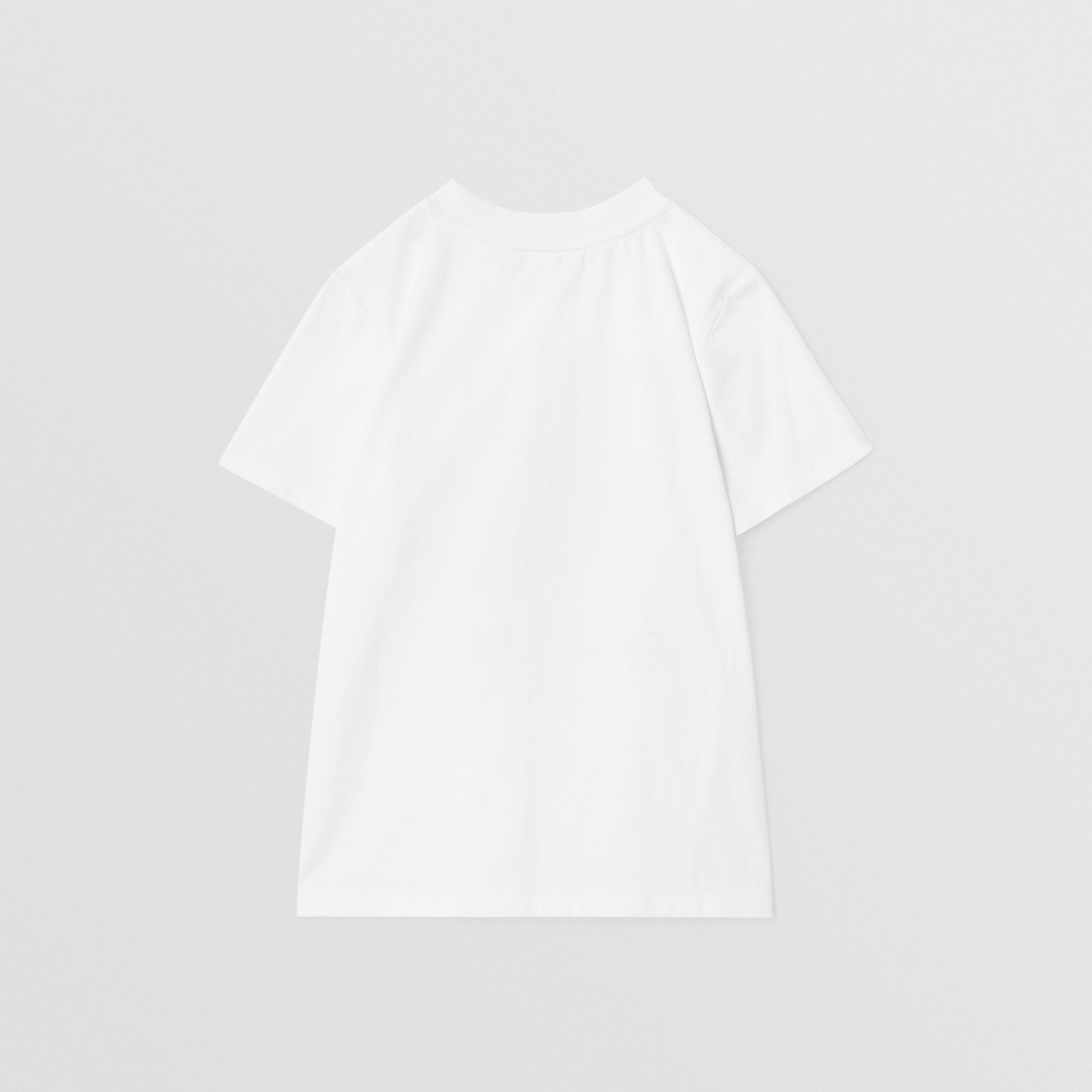 Vintage Photo Print Cotton T-shirt in White | Burberry Australia - gallery image 4