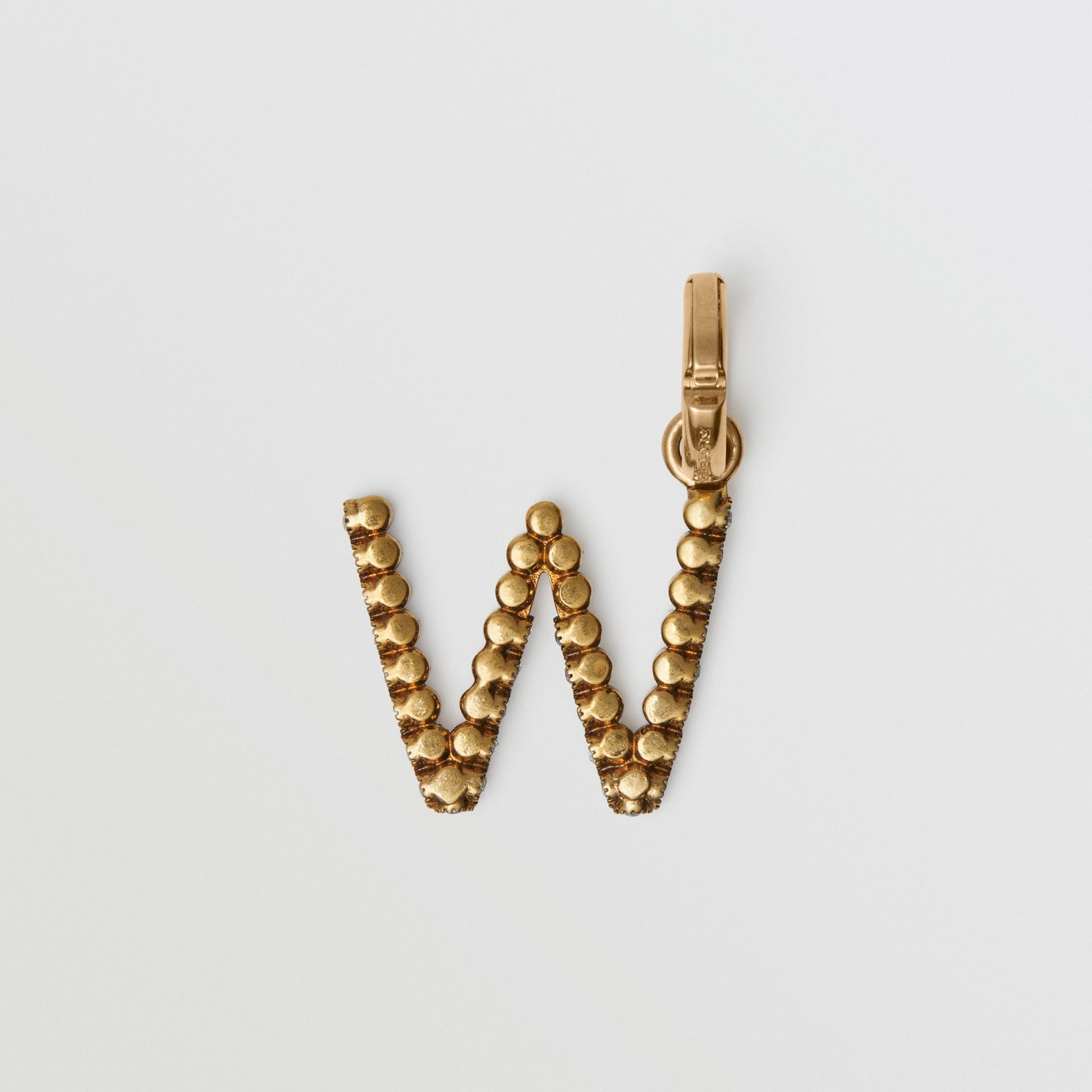 Crystal 'W' Alphabet Charm - Women | Burberry - gallery image 3