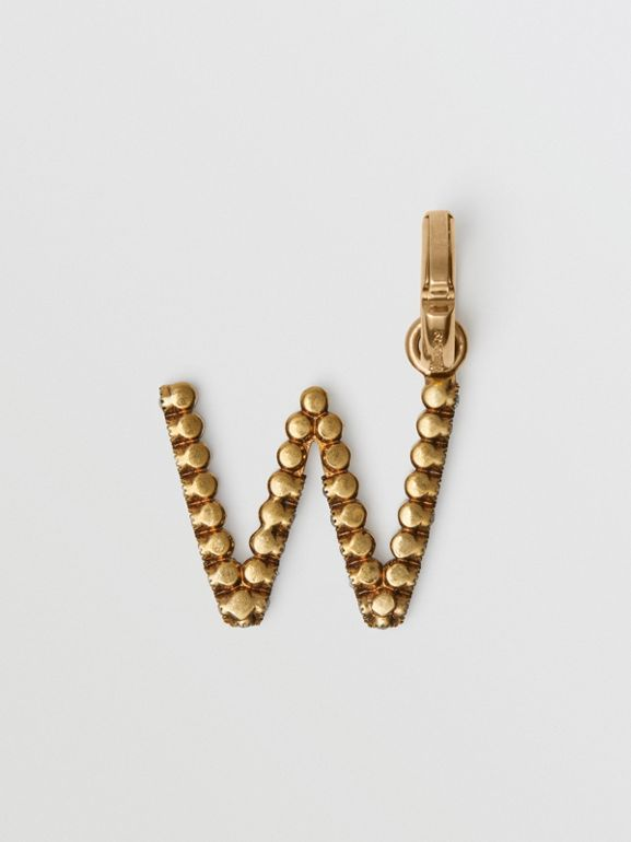 Crystal 'W' Alphabet Charm - Women | Burberry - cell image 1