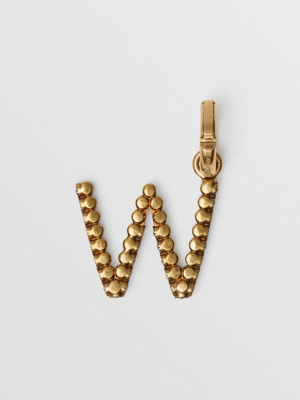Crystal 'W' Alphabet Charm - Women | Burberry Singapore - cell image 3