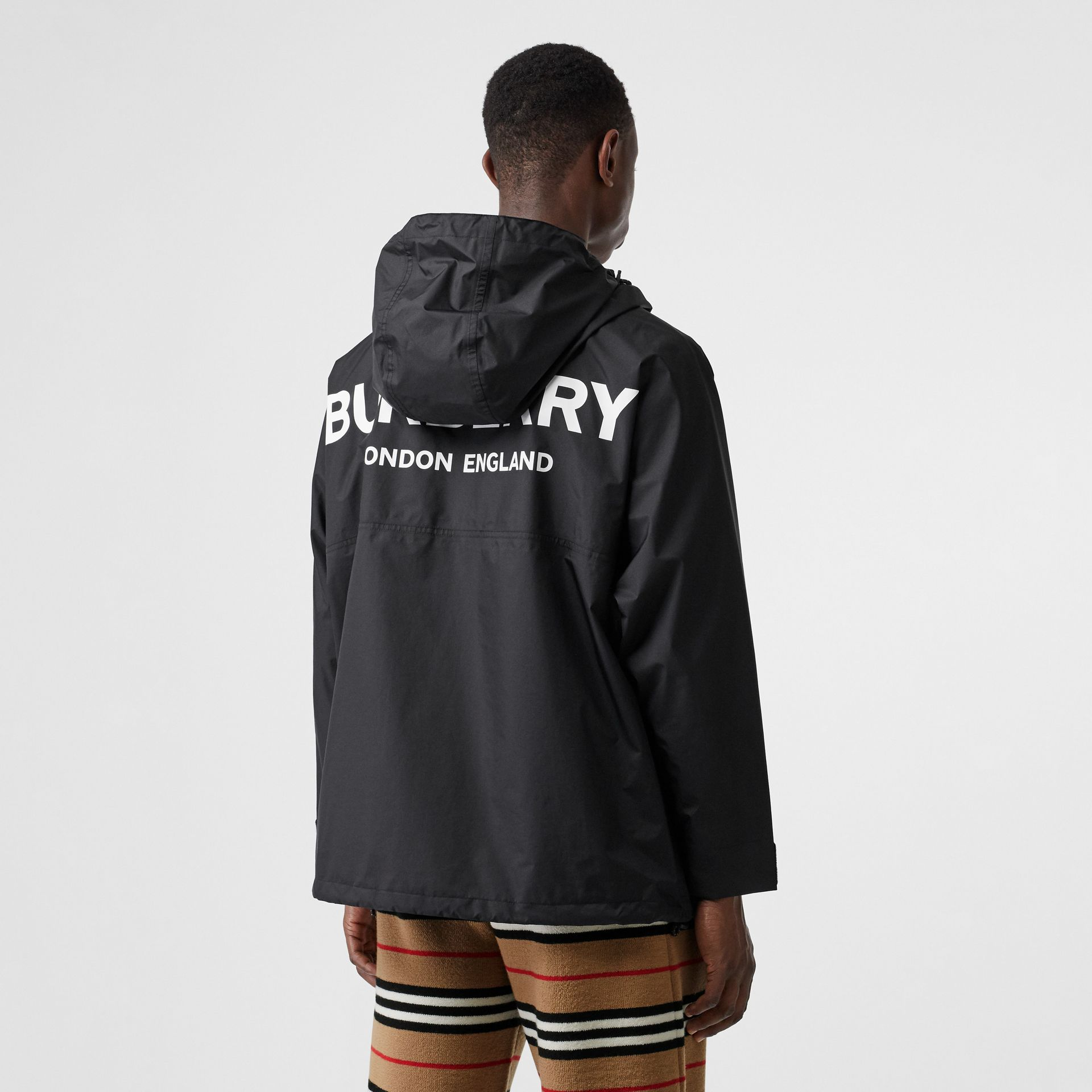 Logo Print Lightweight Cagoule in Black - Men | Burberry - gallery image 5