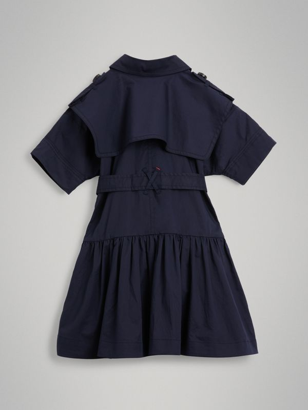 Stretch Cotton Trench Dress in Midnight | Burberry - cell image 3