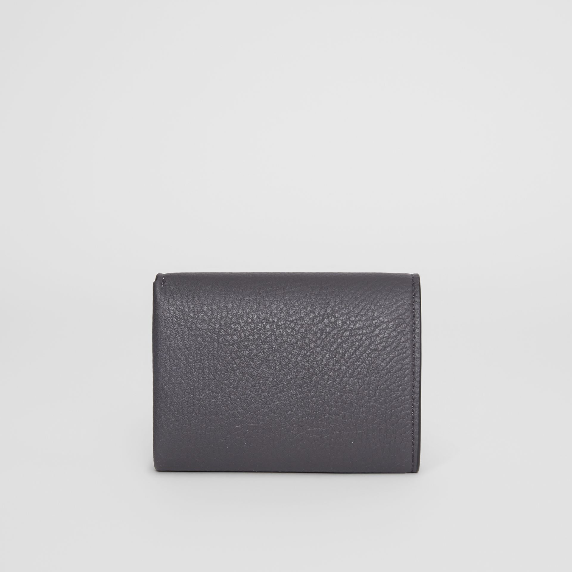 Small Leather Folding Wallet in Charcoal Grey - Women | Burberry - gallery image 4