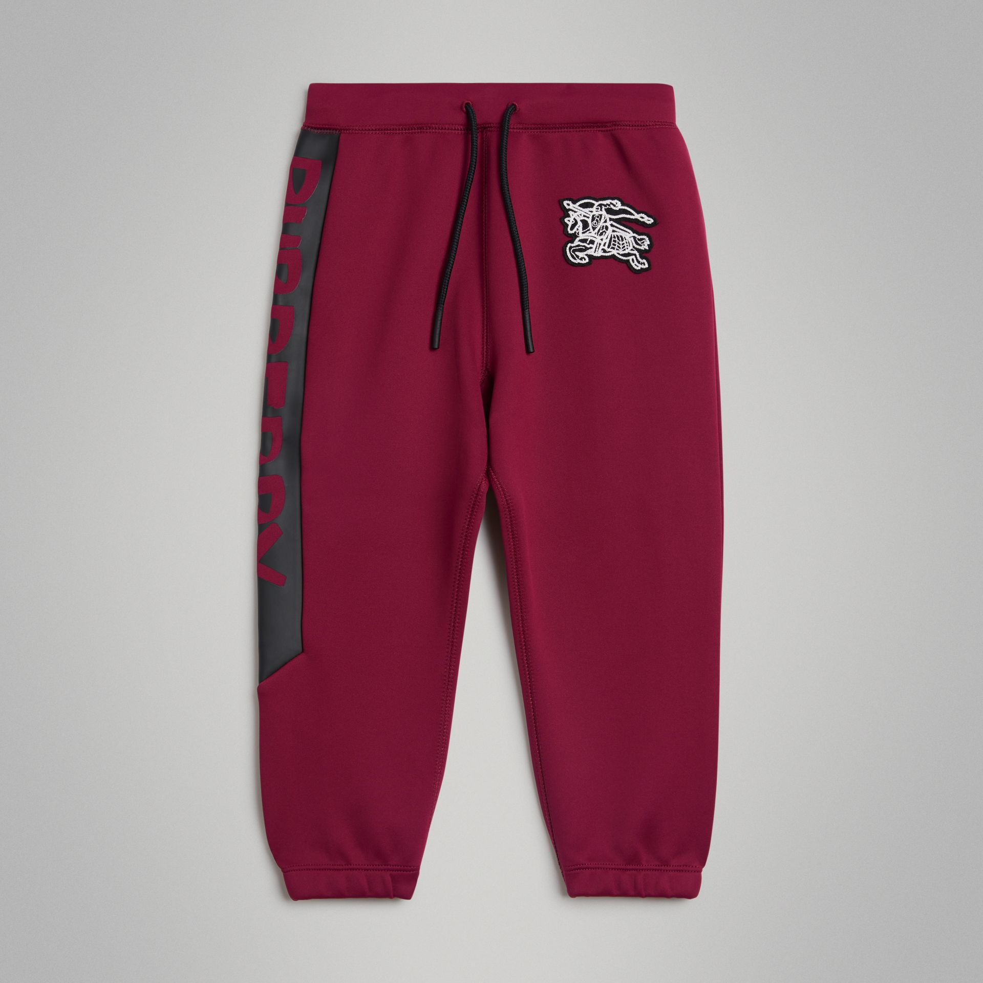 Graffiti Print Jersey Sweatpants in Burgundy | Burberry - gallery image 0