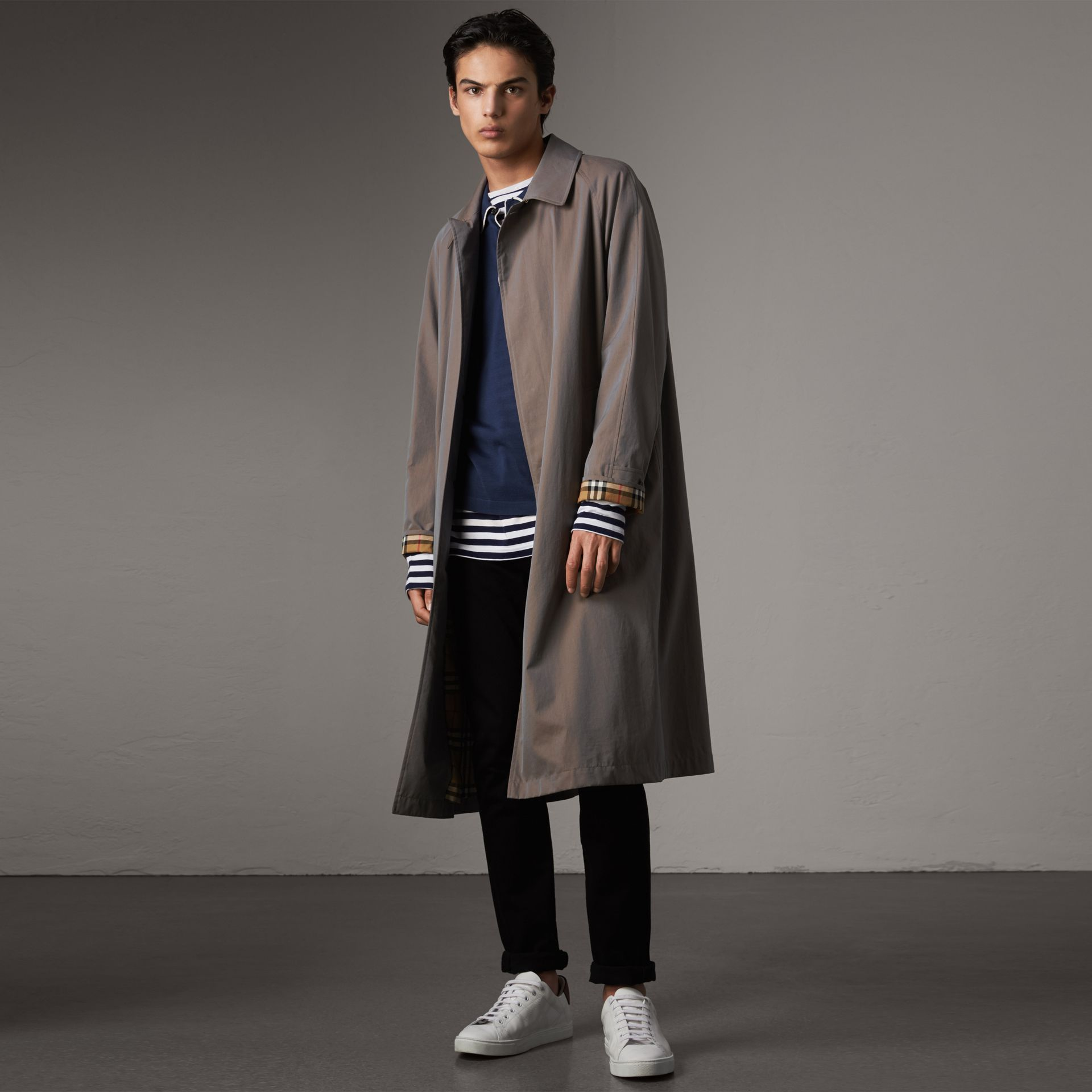 The Brighton Car Coat in Lilac Grey - Men | Burberry - gallery image 0