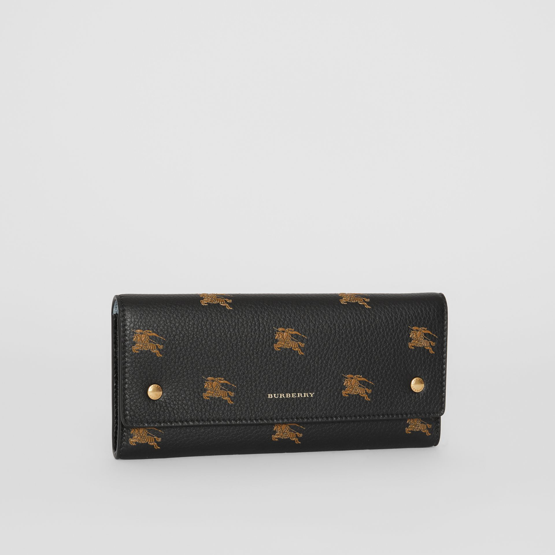 EKD Leather Continental Wallet in Black - Women | Burberry Australia - gallery image 4