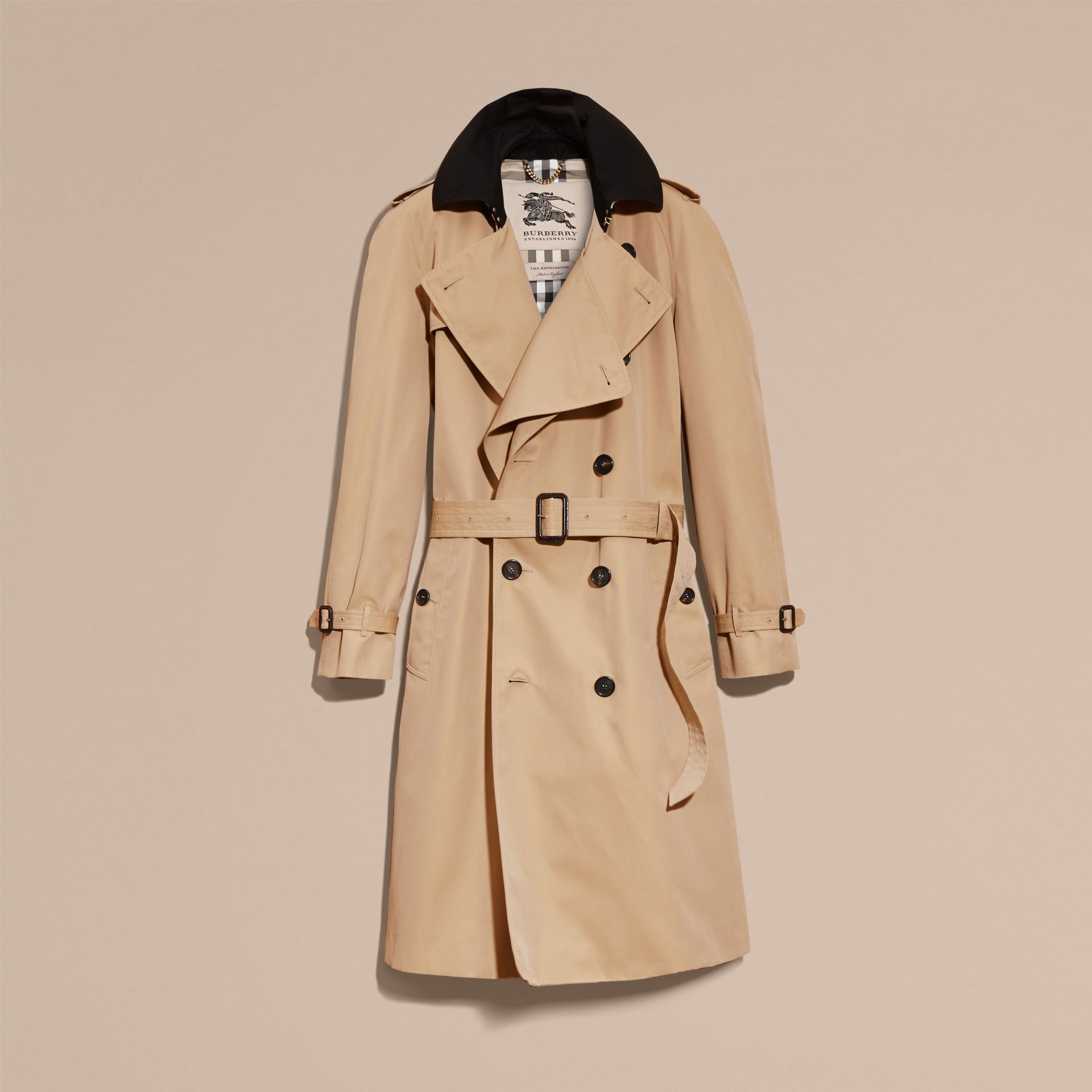 Honey Deconstructed Cotton Gabardine Heritage Trench Coat - gallery image 4