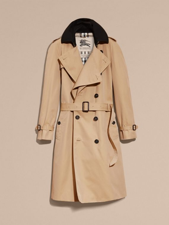 Honey Deconstructed Cotton Gabardine Heritage Trench Coat - cell image 3