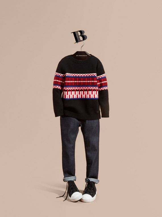 Fair Isle Wool Cashmere Sweater