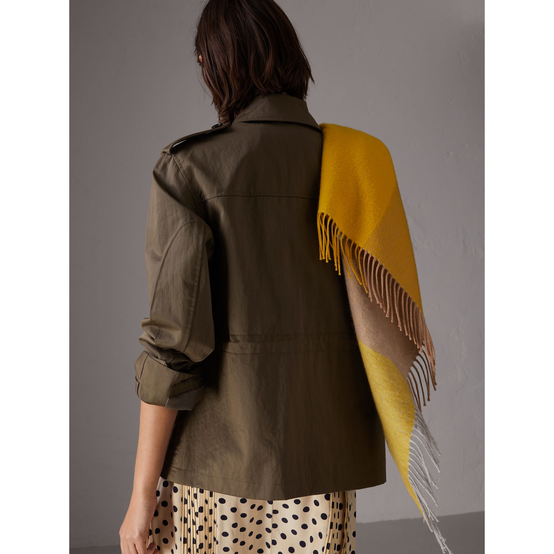 Showerproof Field Jacket in Dark Olive - Women | Burberry - gallery image 2
