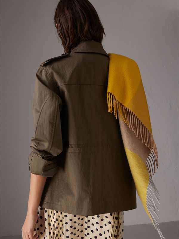 Showerproof Field Jacket in Dark Olive - Women | Burberry - cell image 2