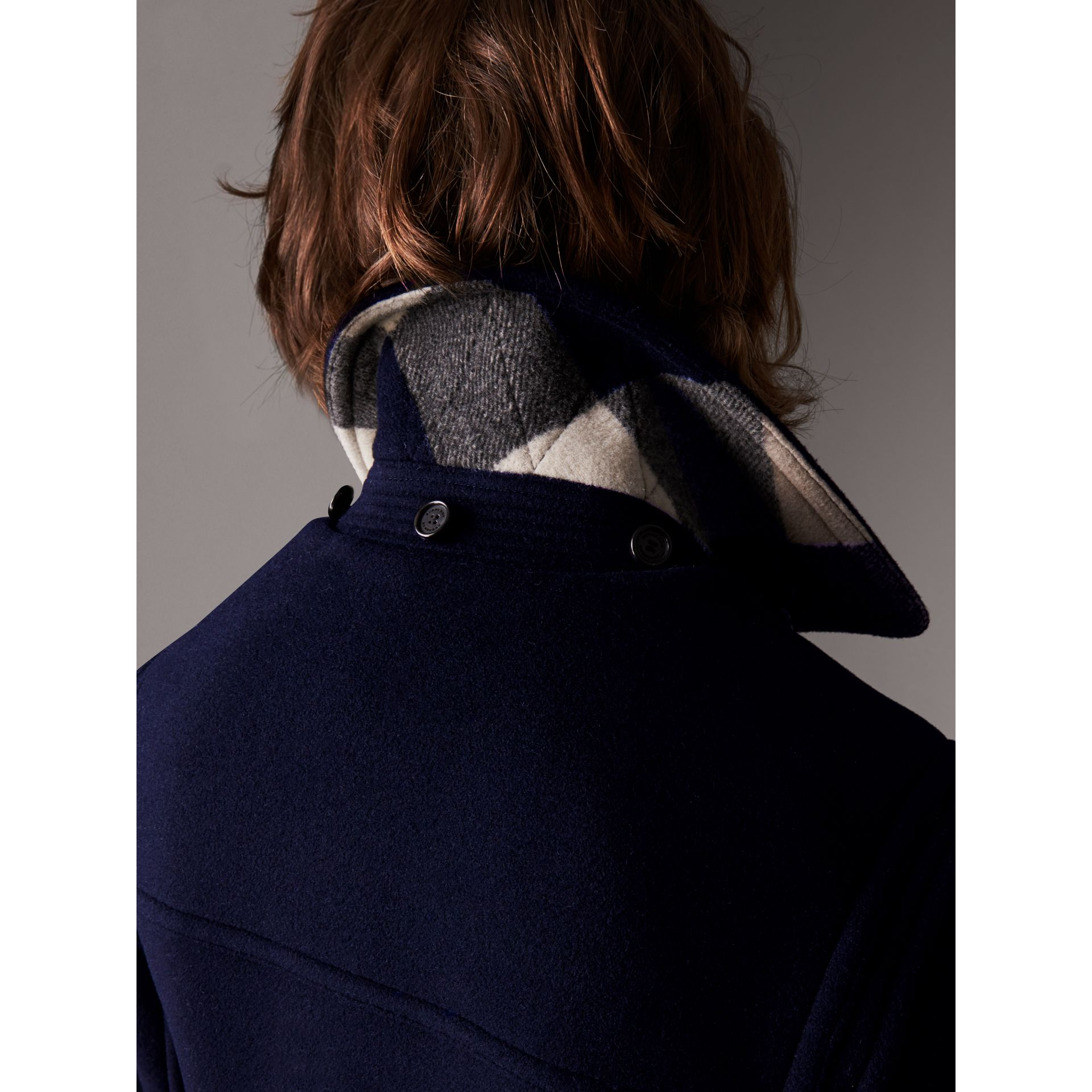 The Plymouth Duffle Coat in Navy - Men | Burberry - gallery image 4