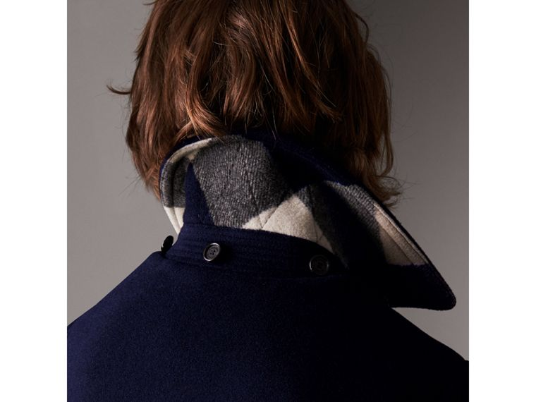 The Plymouth Duffle Coat in Navy - Men | Burberry Australia - cell image 4