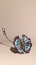 Tie-dye Print Leather Butterfly Charm