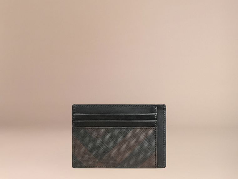 London Check Card Case in Chocolate/black - Men | Burberry Hong Kong - cell image 2