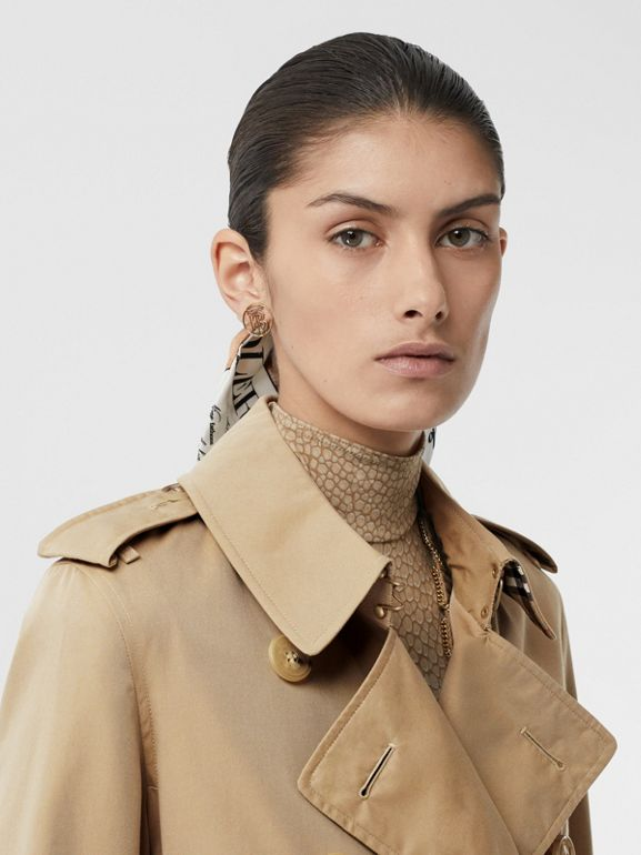 The Kensington Heritage Trench Coat in Honey - Women | Burberry - cell image 1