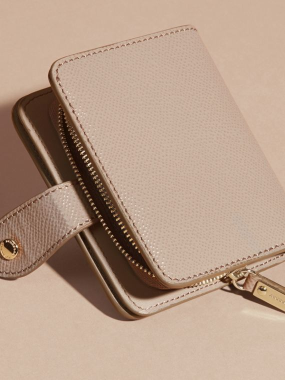 Pale grey Patent London Leather Wallet Pale Grey - cell image 3