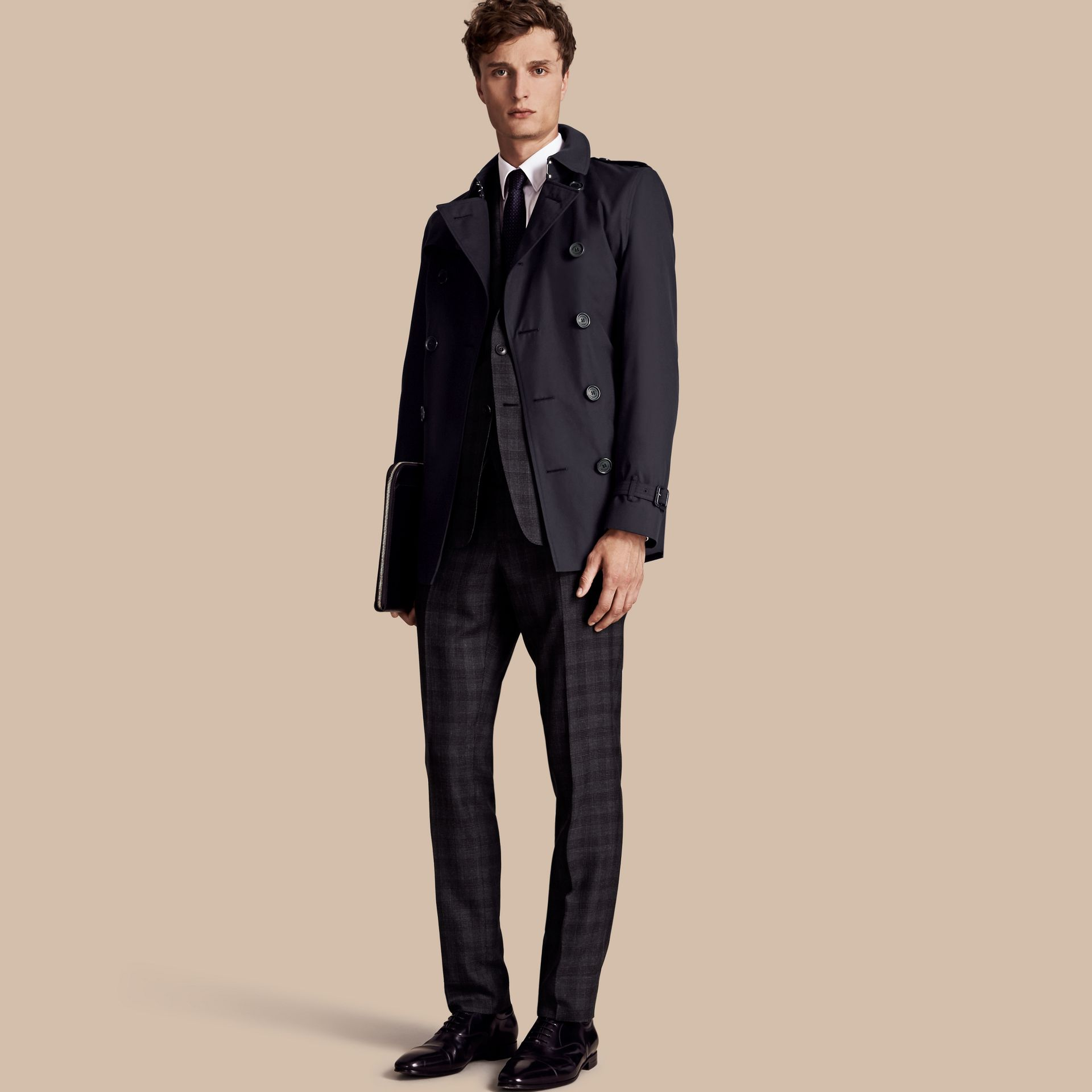 Navy The Chelsea - Trench coat Heritage corto Navy - immagine della galleria 1