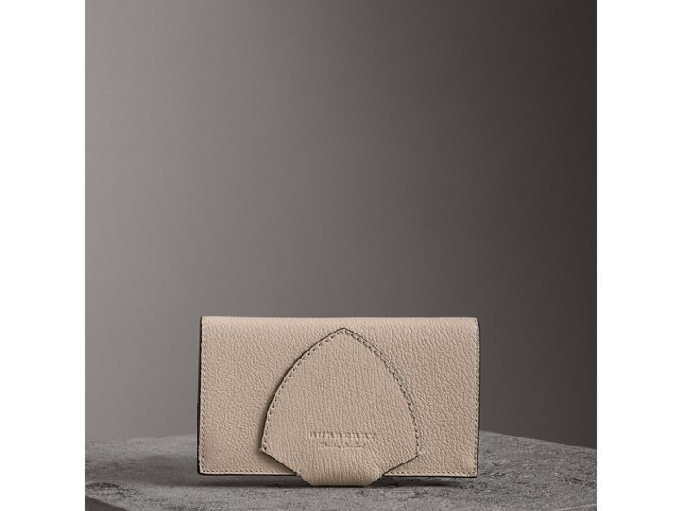 Equestrian Shield Two-tone Leather Continental Wallet in Stone - Women | Burberry - cell image 4