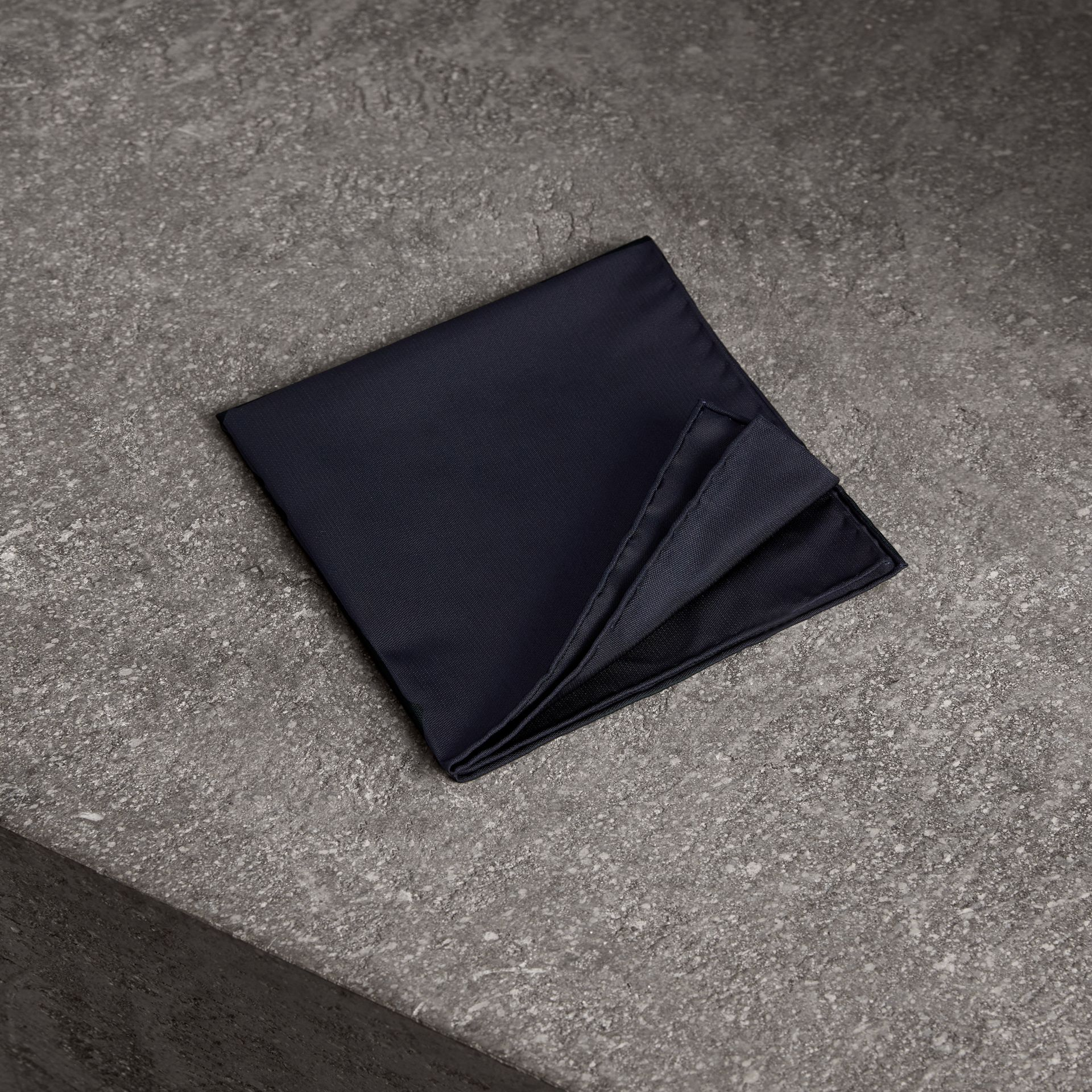 Silk Pocket Square in Midnight - Men | Burberry Canada - gallery image 0