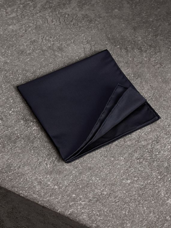 Silk Pocket Square in Midnight