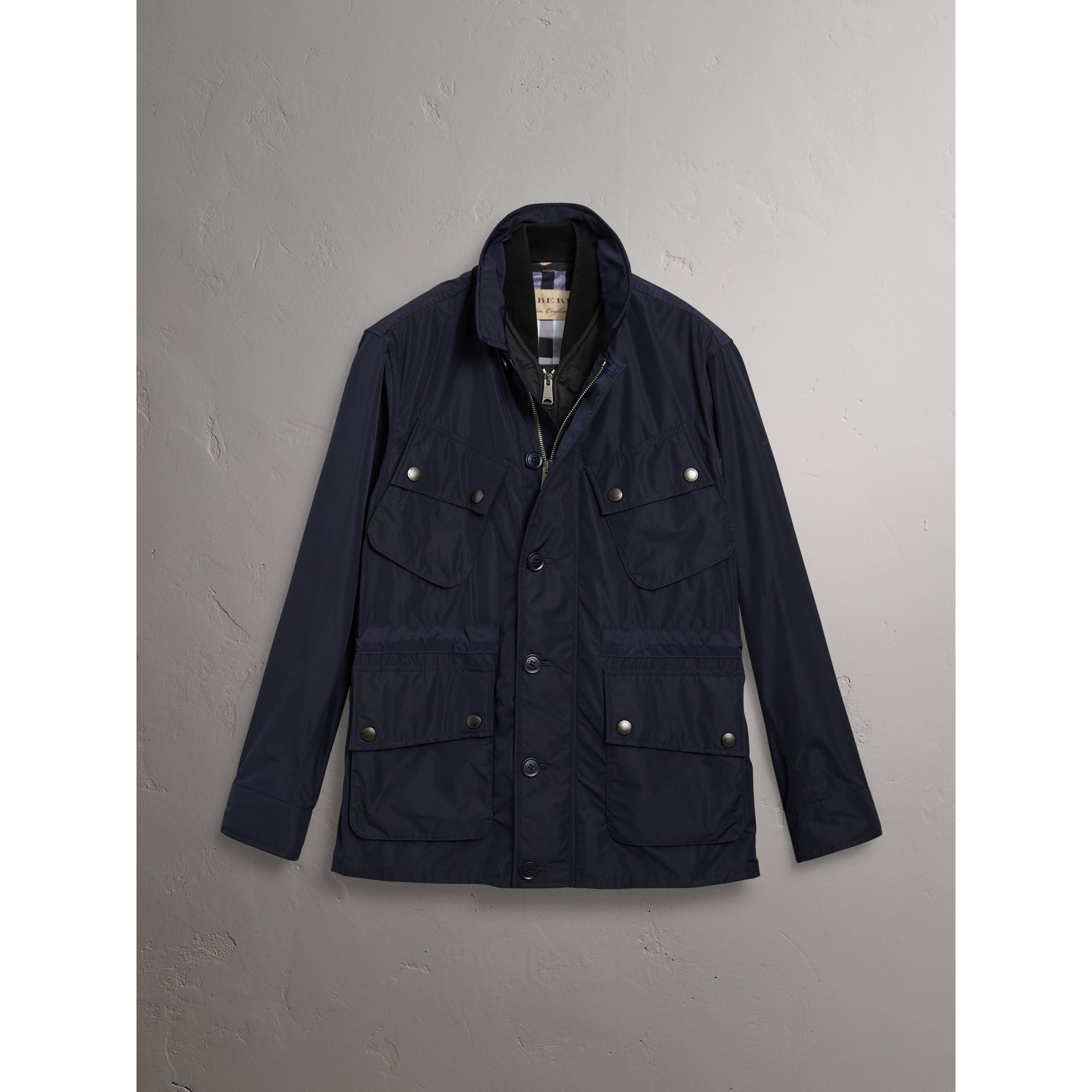 Shape-memory Taffeta Field Jacket with Warmer in Navy - Men | Burberry - gallery image 3