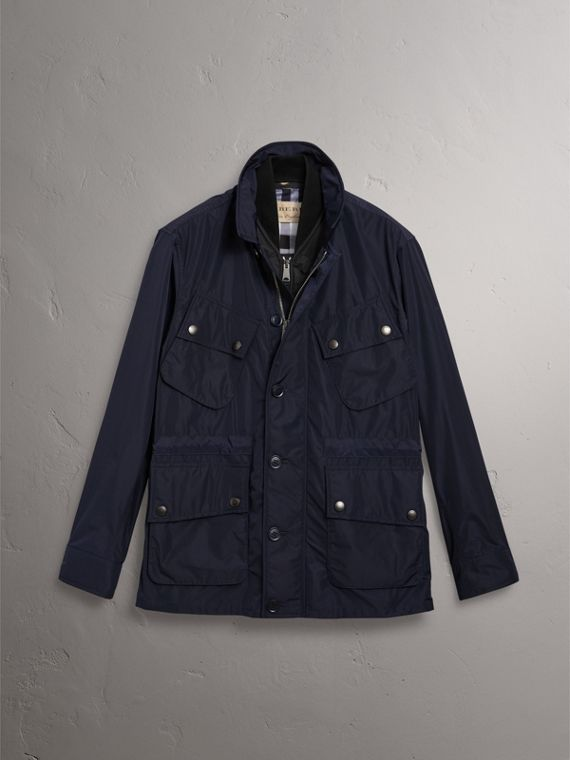 Shape-memory Taffeta Field Jacket with Warmer in Navy - Men | Burberry Singapore - cell image 3