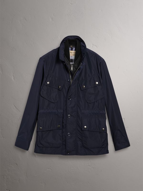 Shape-memory Taffeta Field Jacket with Warmer in Navy - Men | Burberry United Kingdom - cell image 3