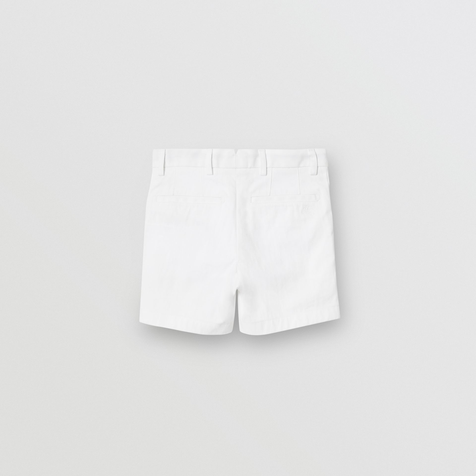 Cotton Chino Shorts in Optic White - Children | Burberry - gallery image 3