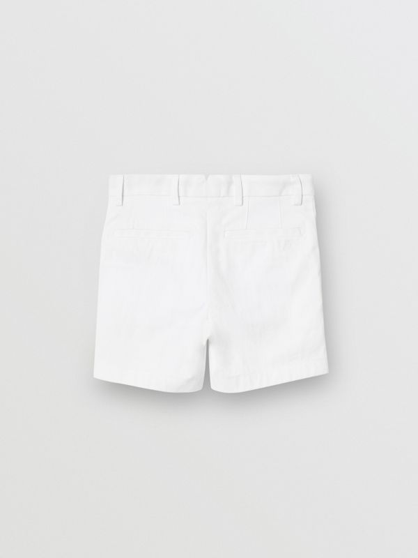 Cotton Chino Shorts in Optic White - Children | Burberry - cell image 3
